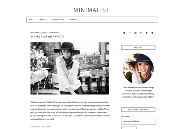 minimalist-wordpress-tema
