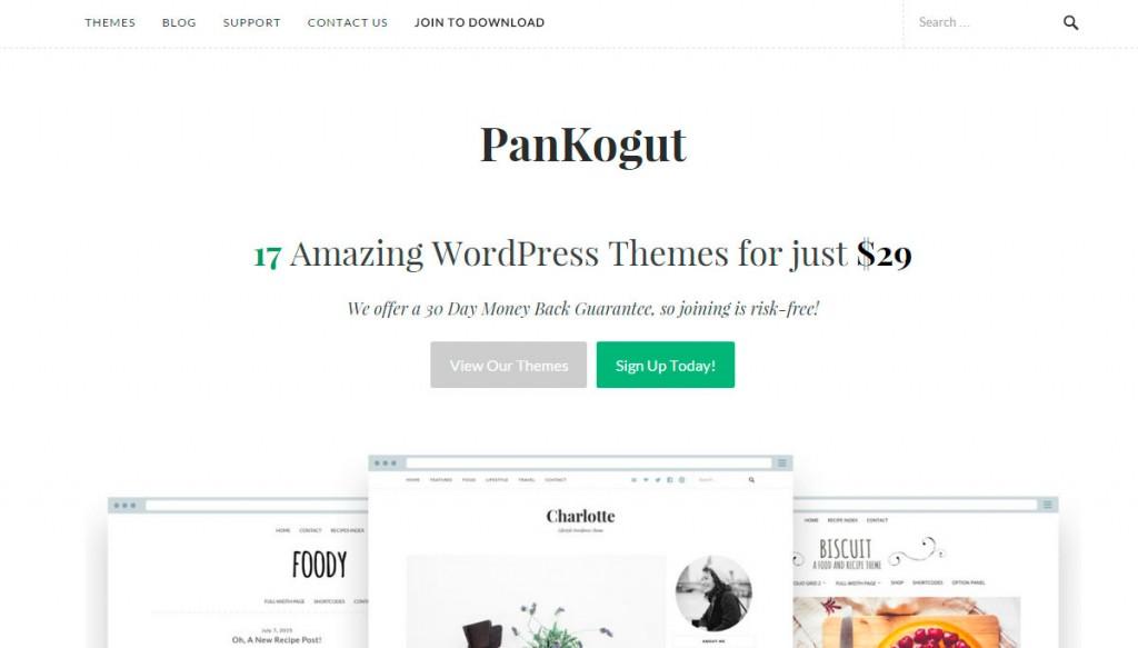 Pankogut Temas para blog en WordPress