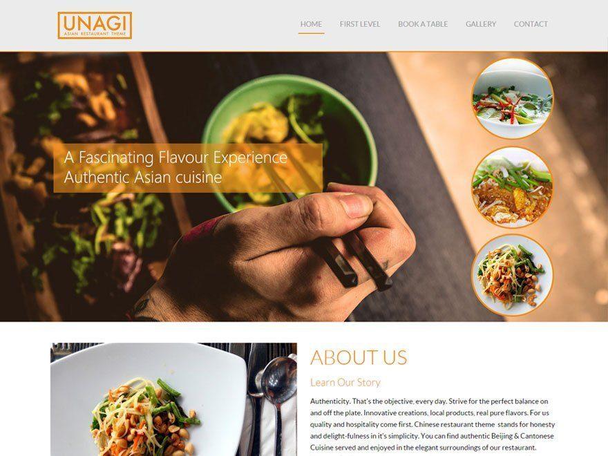 Plantillas WordPress para Restaurantes, Cafeterías, Pastelerías