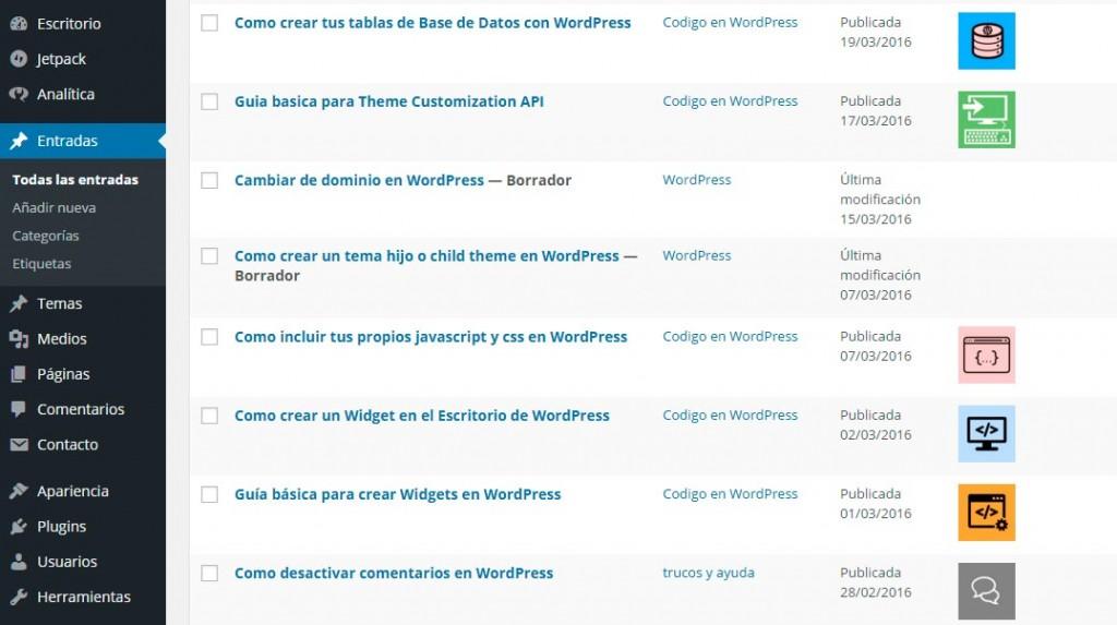 Como mostrar la imagen en las listas de entradas de WordPress
